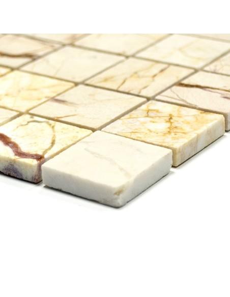 Marmor Naturstenmosaik Guld Crème Polerad | Ekosten.se