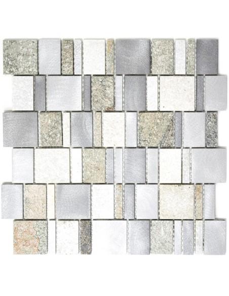 Metall Sten Mosaik Mix   Ekosten.se