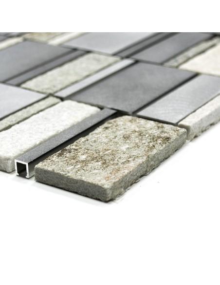 Sten Metall Mosaikmix Silver | Ekosten.se