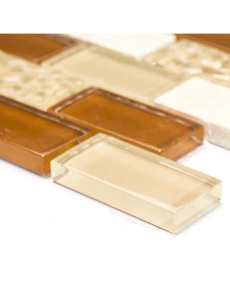 Kristall Natursten Brickmosaik Mix Beige | Ekosten.se