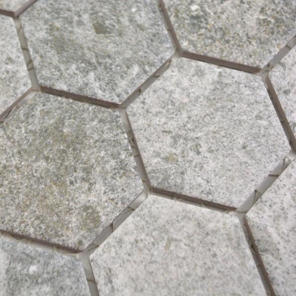 Hexagon Klinker Mosaik Granit Grå | Ekosten.se