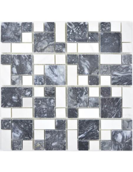 Svart Vit Marmor Mosaik Polerad | Ekosten.se