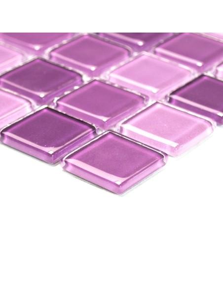 Glas Kristallmosaik Lila Mix | Ekosten.se