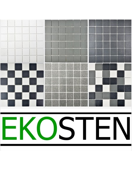 Svart Klinker Mosaik Halkdämpande | Ekosten.se