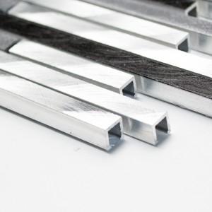 Stavmosaik Interlock Aluminium Grå Svart Mix