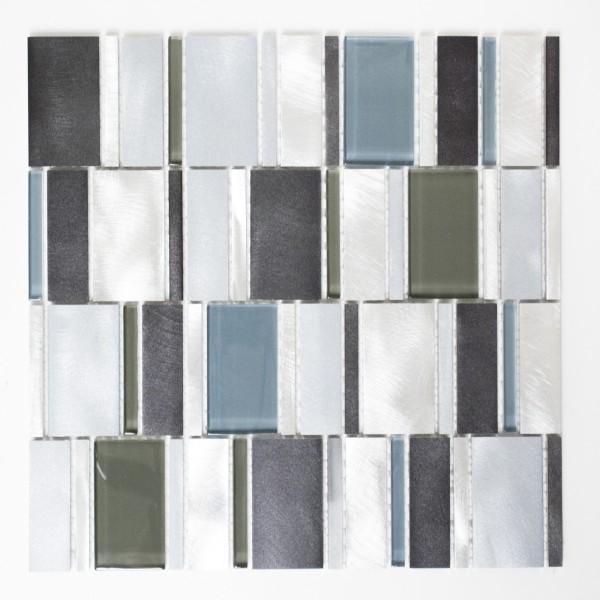 Mosaikmix Aluminium Kristall Blå