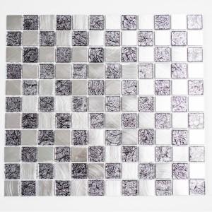 Kristall Metall Svart Silver Mosaik 25x25x4mm