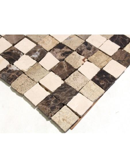 Natursten Marmormosaik Beige Creme Mix