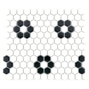Hexagon Mosaik Blomma Matt | Ekosten.se