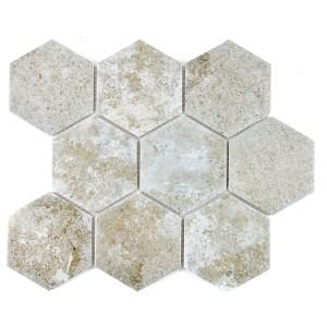 Klinker Hexagon Mosaik Betong