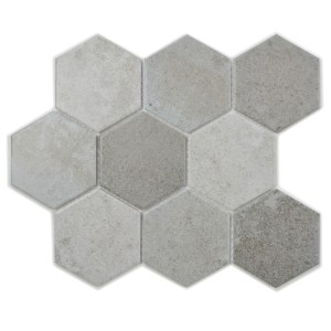 Hexagon Klinker Mosaik Betong Mix