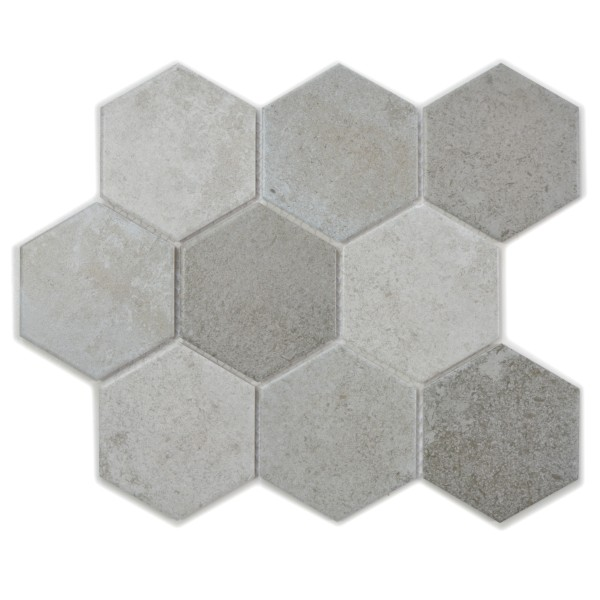Hexagon Klinker Mosaik Betong Mix