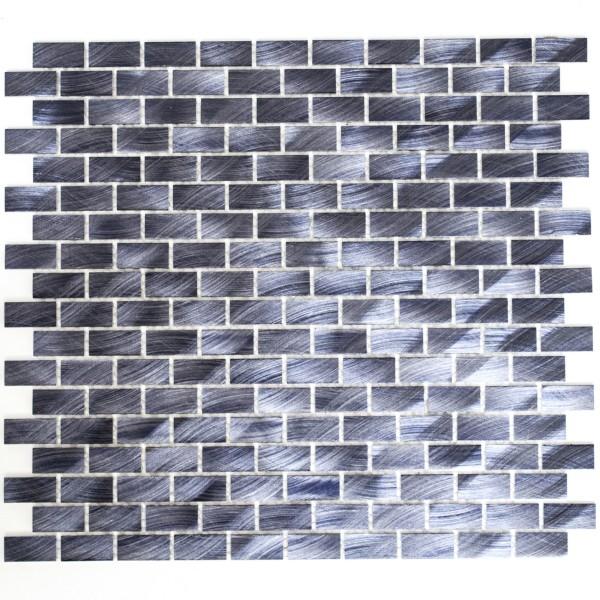 Svart Metall Mosaik Aluminium Borstad | Ekosten.se