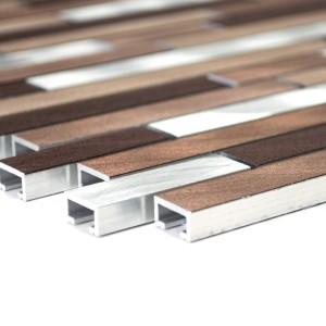 Stavmosaik Aluminium Koppar Mix