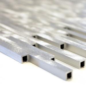 Silver Stavmosaik Aluminium Borstad