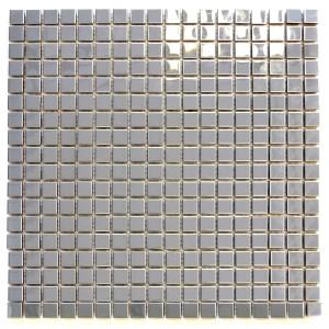 Silver Mosaik Rostfrittstål Blank 15x15mm