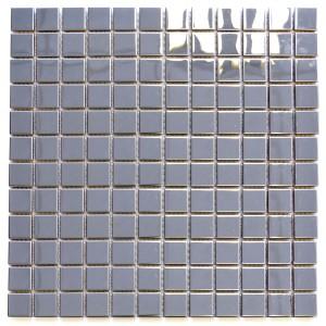 Rostfrittstål Mosaik Silver Blank 23x23mm