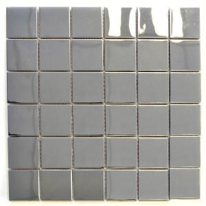 Blank Siver Mosaik Rostfrittstål 48x48mm