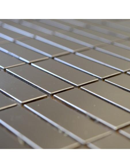 Silver Steel Brickmosaik Rostfrittstål Borstad | Ekosten.se
