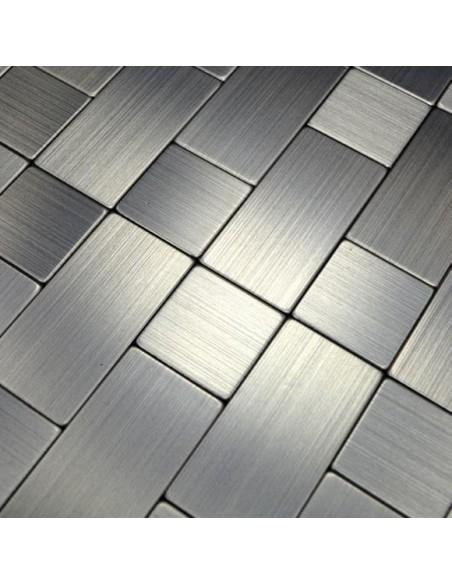 Självhäftande Mosaik Metall Silver Mix