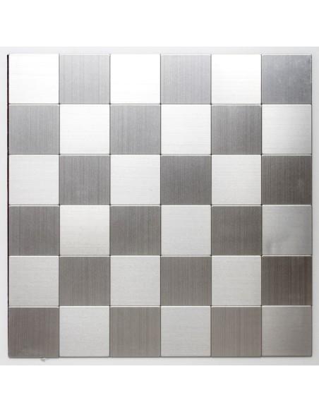 Självhäftande Mosaik Metall Silver