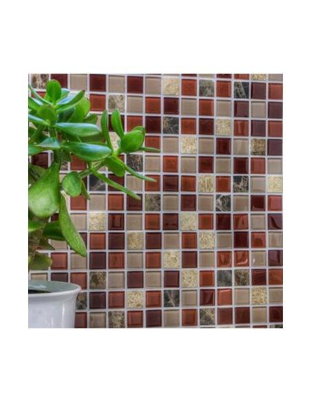 Självhäftande Kristall Marmor Mosaik Beige Brun Mix