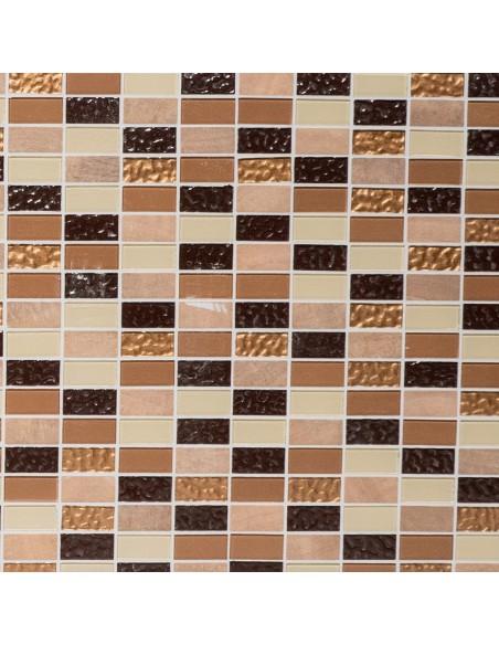 Självhäftande Brickmosaik Emperador Beige Brun