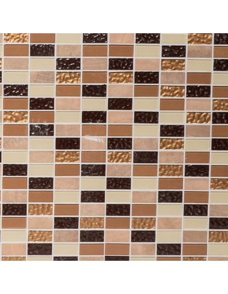 Självhäftande Brickmosaik Emperador Beige Brun | Ekosten.se