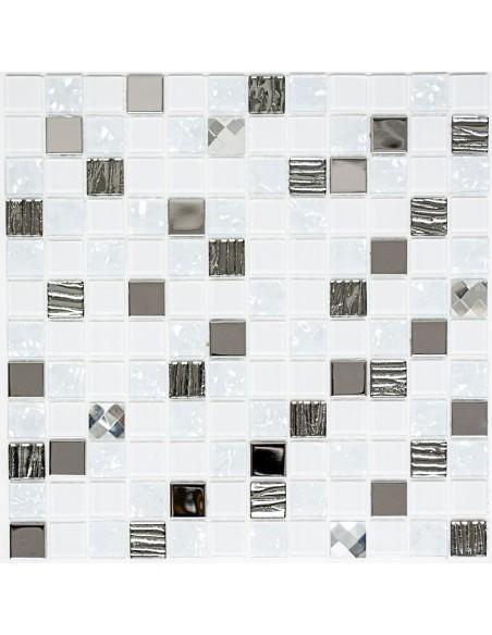 Silver Självhäftande Kristall Rostfrittstål Mosaik