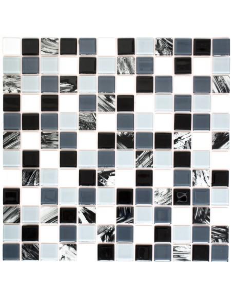 Kristall Självhäftande Mosaik Grå Svart Vit Mix | Ekosten.se