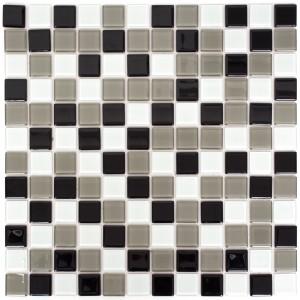 Mosaik Kristall Självhäftande Svart Grå Vit Mix