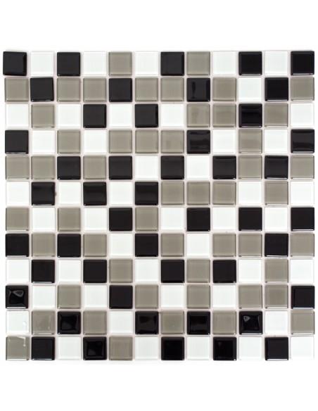 Mosaik Kristall Självhäftande Svart Grå Vit Mix | Ekosten.se