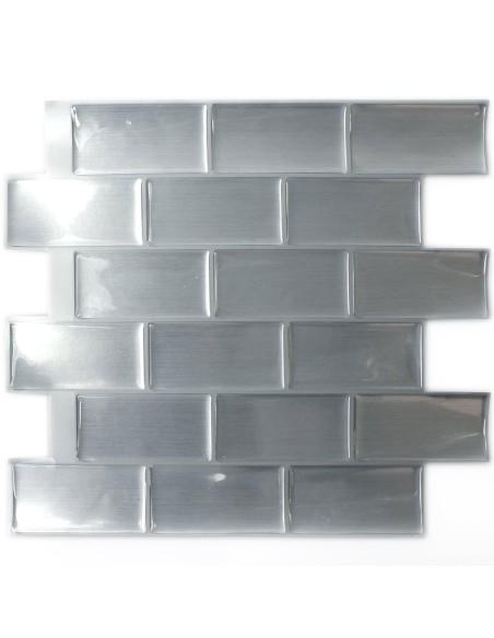 Självhäftande Vinyl Mosaik Silver