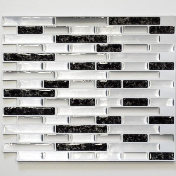 Vinylmosaik Självhäftande Marmor Effekt Svart