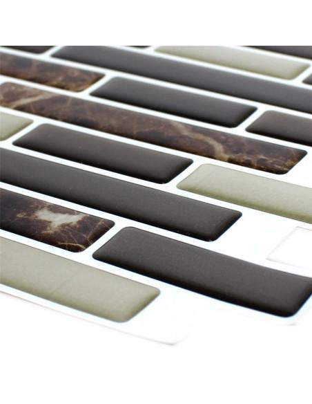 Vinylmosaik Självhäftande Marmor Effekt Brun