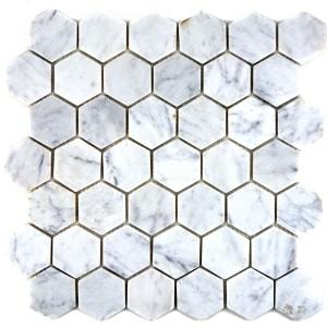 Carrara Marmor Hexagon Naturstenmosaik