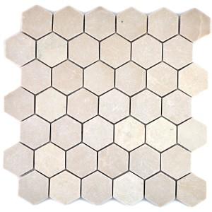 Marmor Botticino Hexagon Naturstenmosaik
