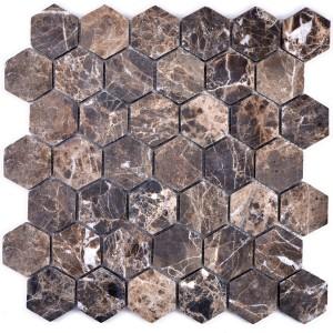 Hexagon Mosaik Impala Brun Flamad