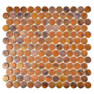 Koppar Knapp Mosaik Metall