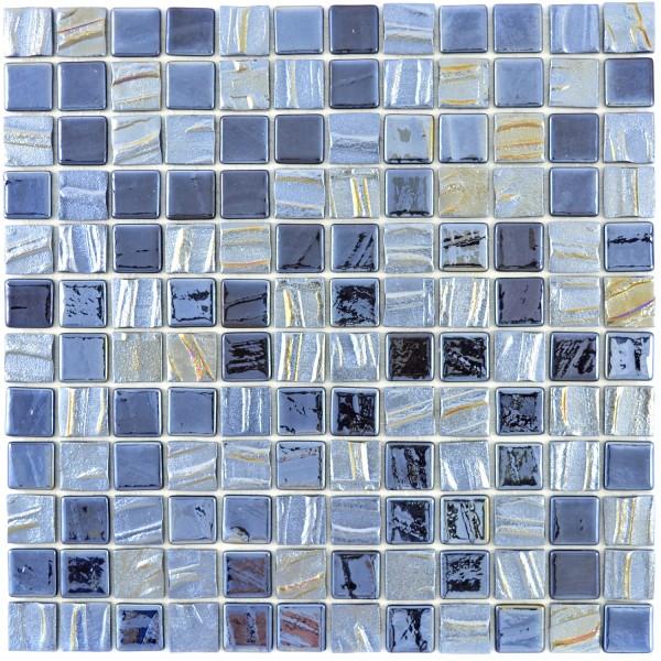 Ecoglas Mosaik Svart Metallic Mix 3D