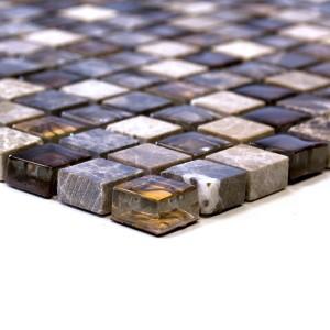 Beige Brun Kristall Rostfrittstål Diamant Mosaikmix