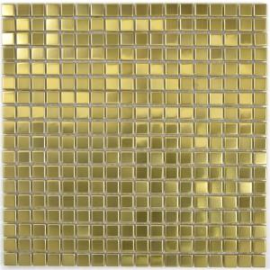 Guld Rostfrittstål Mosaik