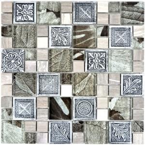 Kombi Mosaik Resin Kristall Mix Silver Ornament