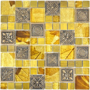 Kombi Mosaik Resin Kristall Mix Guld Ornament