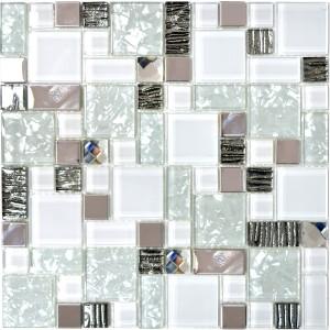Kombi Mosaik Rostfrittstål Kristall Svart Mix