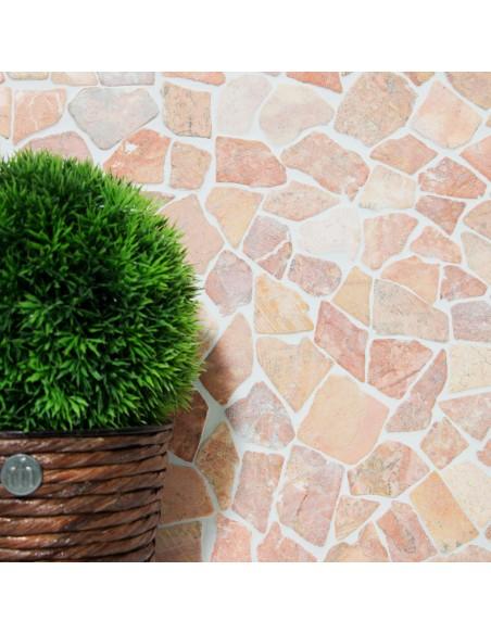 Natursten Marmor Krossmosaik Rosso Verona