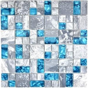 Kombi Kristall Marmor Grå Blå Mix