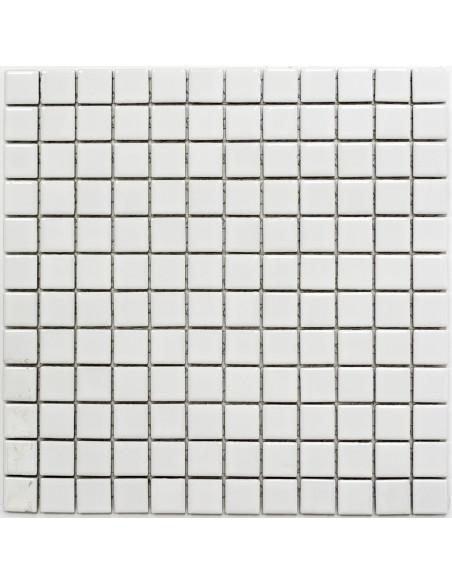 Vit Blank Klinker Mosaik