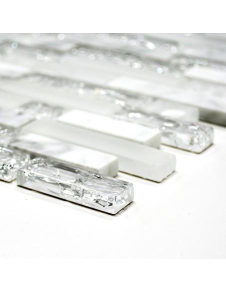 Kristall Marmor Stavmosaik Vit | Ekosten.se