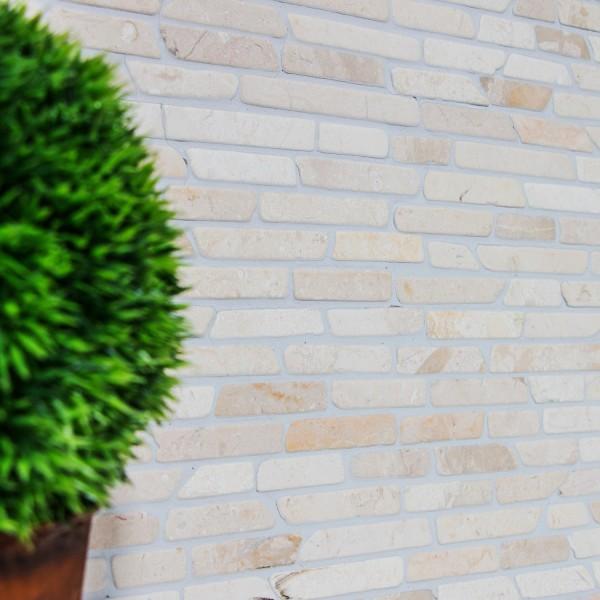 Biancone Stavmosaik Marmor Beige